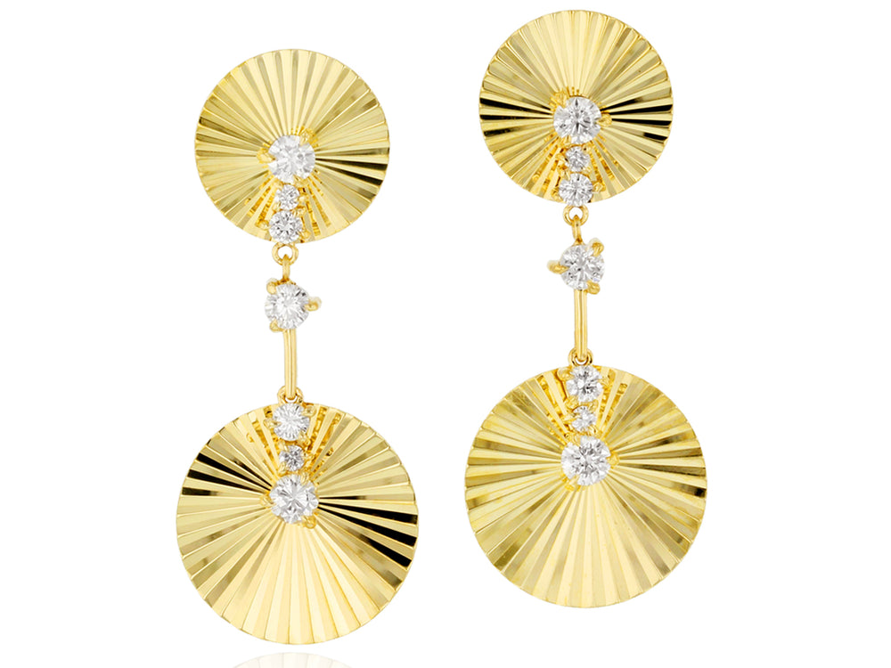 Aura Double Section Drop Earrings