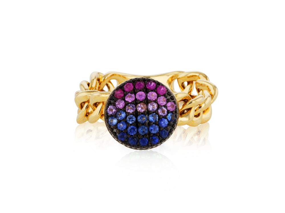Dusk Mini Infinity Chain Link Ring