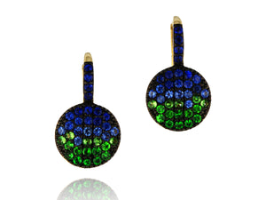 Load image into Gallery viewer, Marea Petite Infinity Leverback Earrings