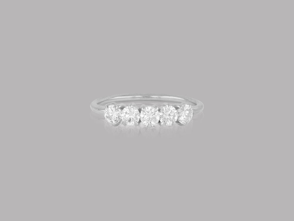 Enchanted Large Diamond Line Band Ring