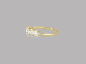 Large Diamond Line Band Ring