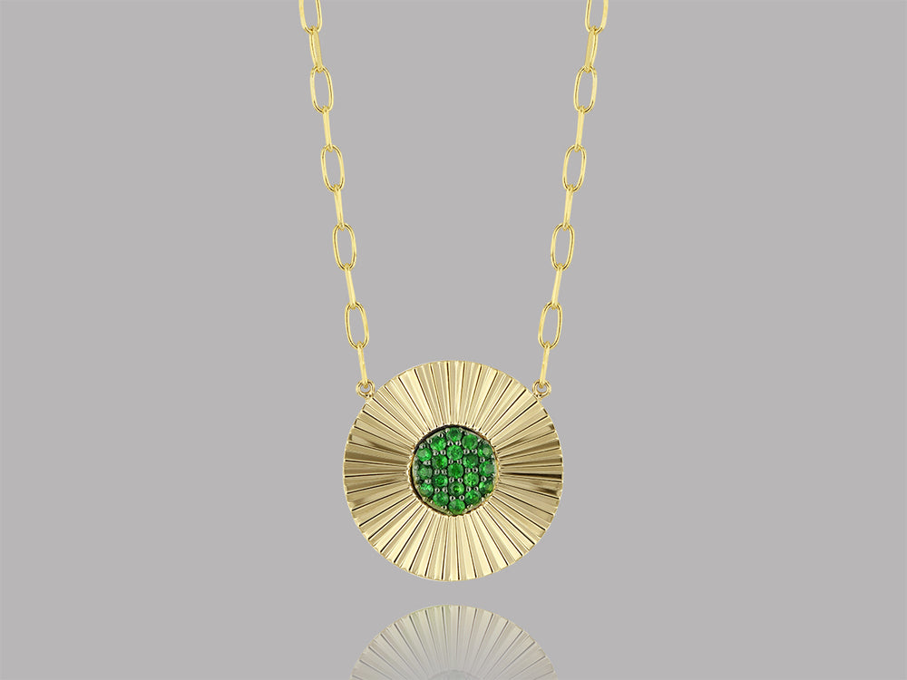Tsavorite Aura Necklace