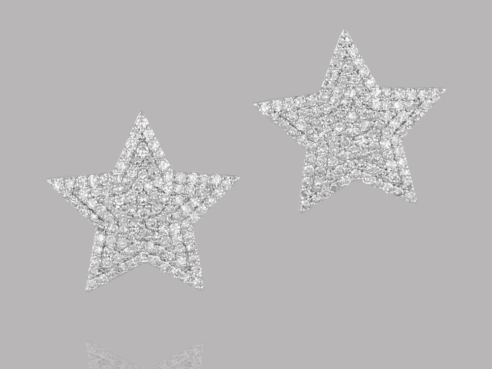 Load image into Gallery viewer, Large Infinity Star Earrings