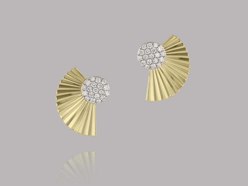 Aura Fan Earrings