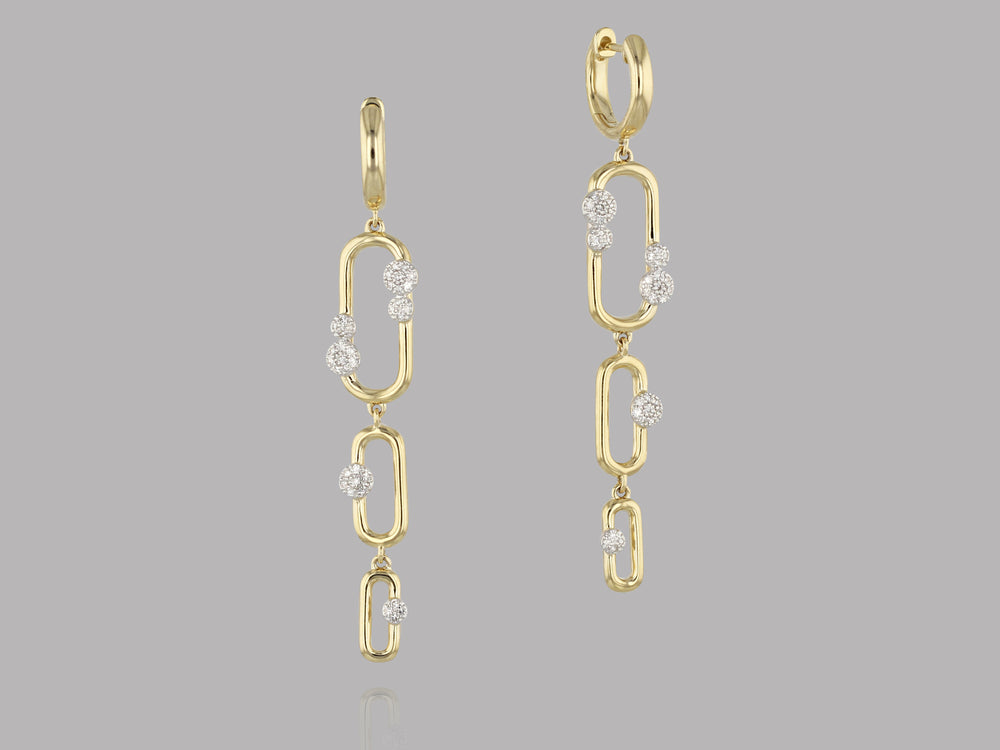 Load image into Gallery viewer, Long Link Earrings