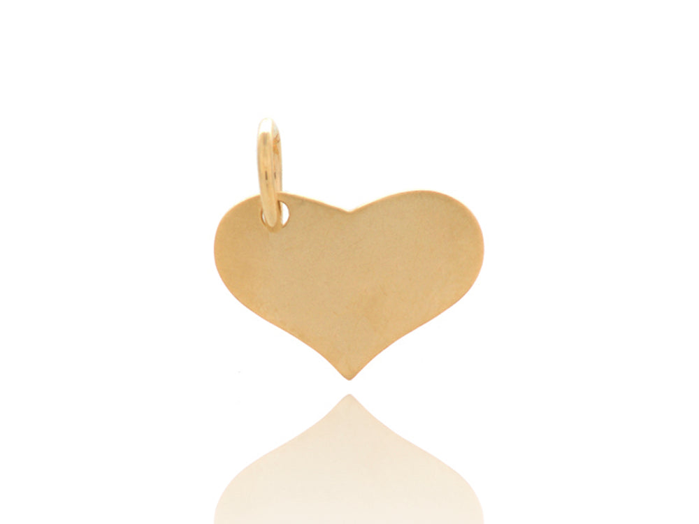 Yellow Gold Heart Tag