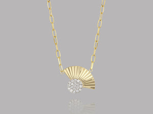 Load image into Gallery viewer, Aura Fan Necklace