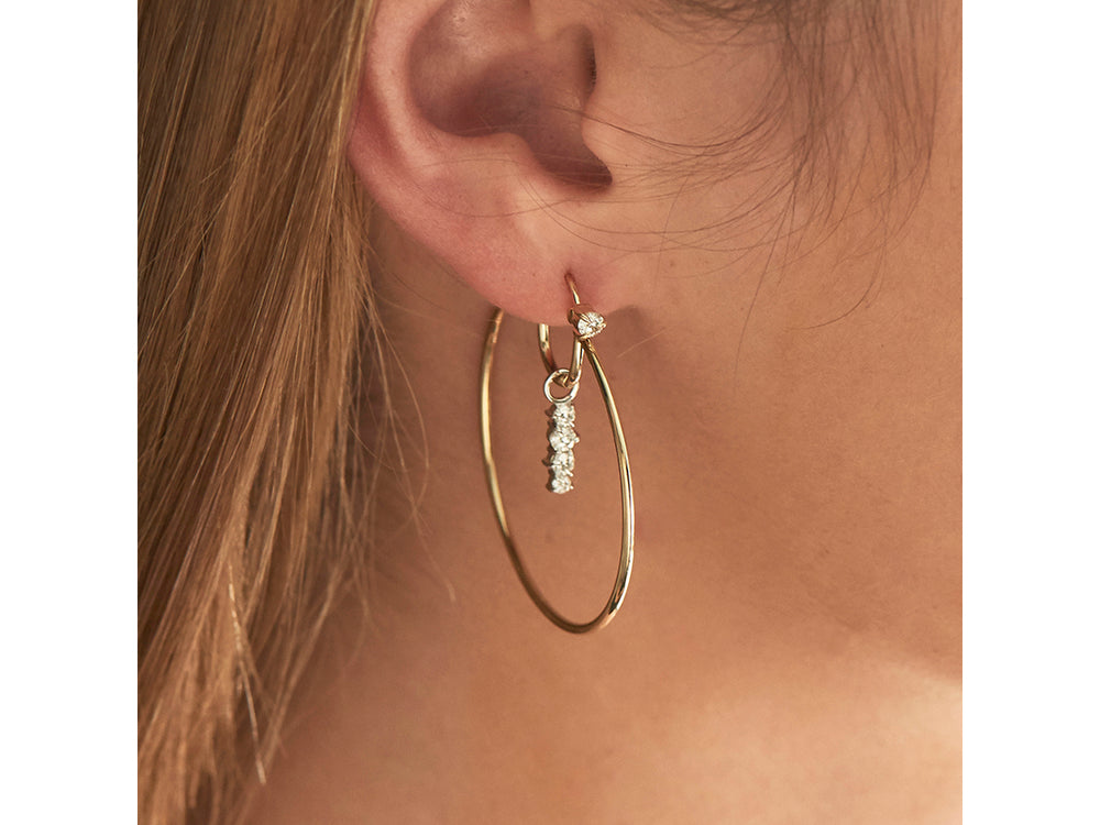 Enchanted Drop Hoop Earrings