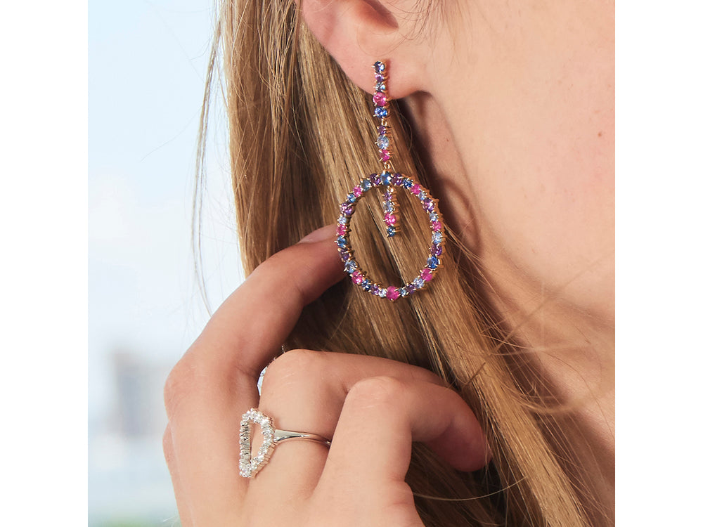 Dusk Enchanted Drop Loop Earrings