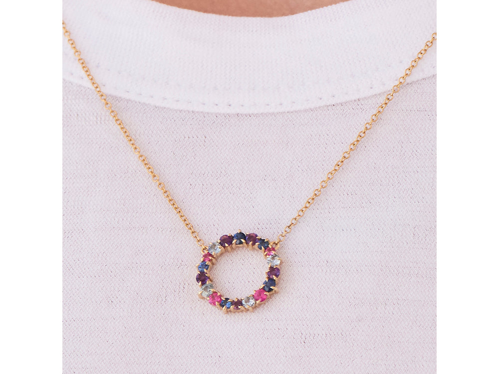 Load image into Gallery viewer, Dusk Enchanted Small Loop Necklace