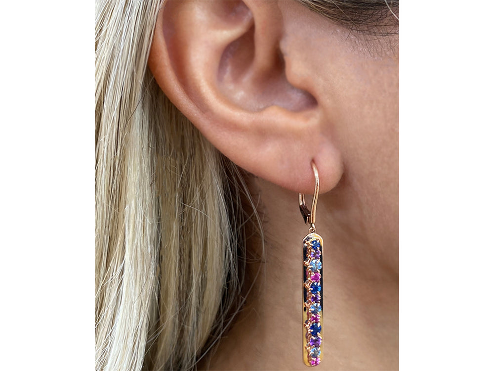 Dusk Enchanted Plate Leverback Earrings