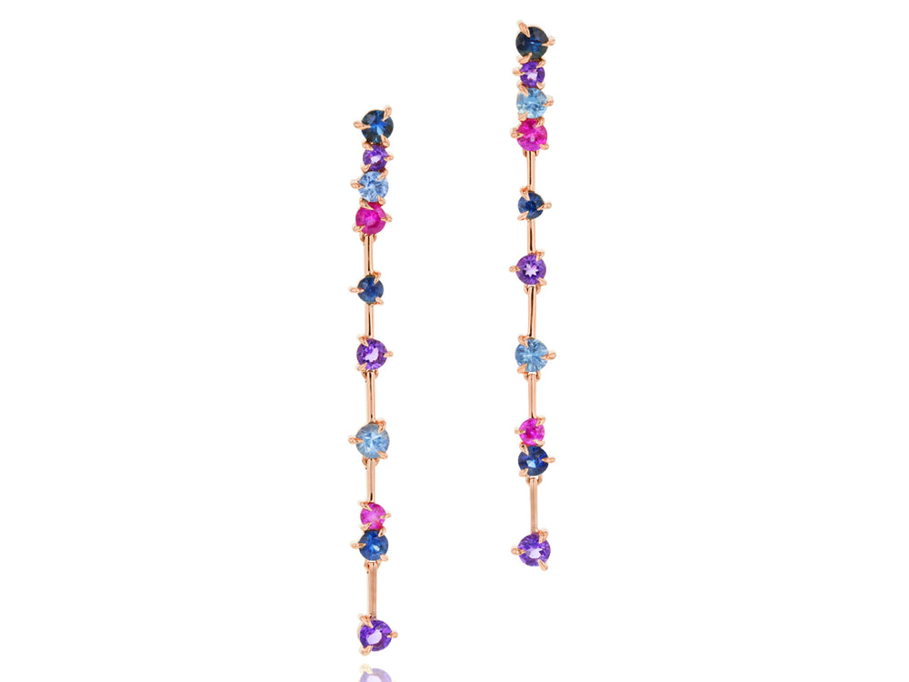 Dusk Enchanted Wire Drop Earrings