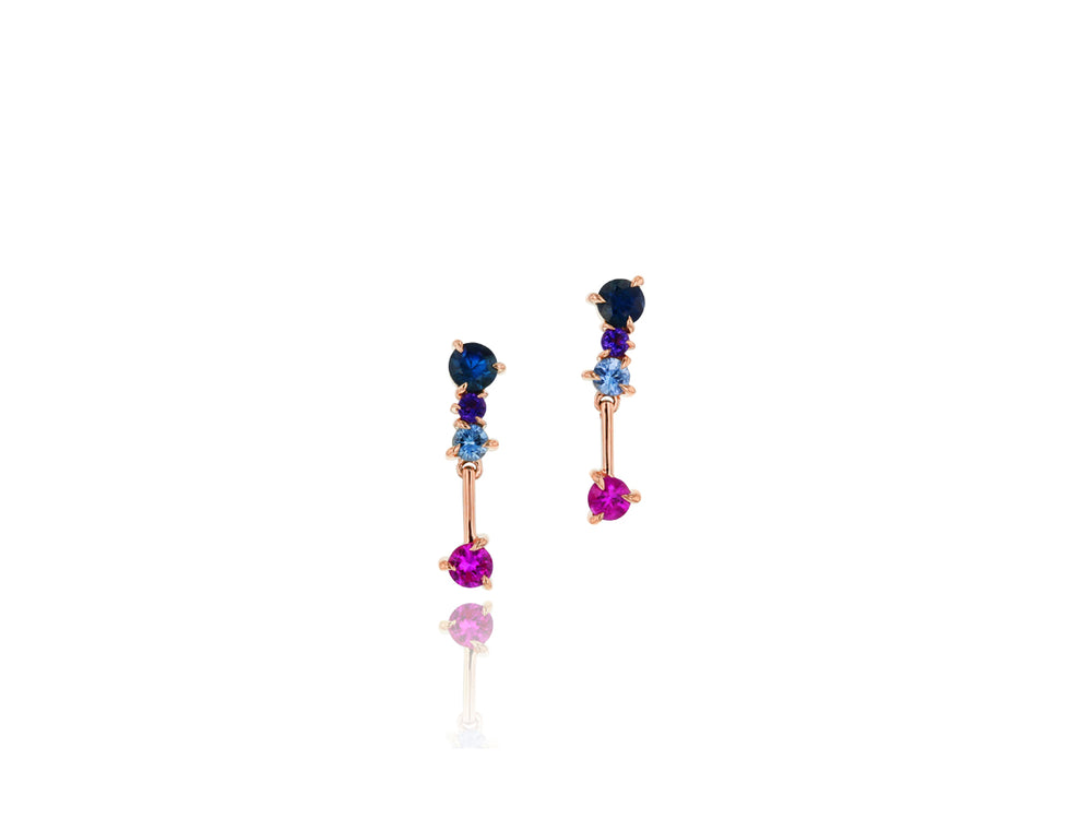 Load image into Gallery viewer, Dusk Enchanted Petite Drop Earrings