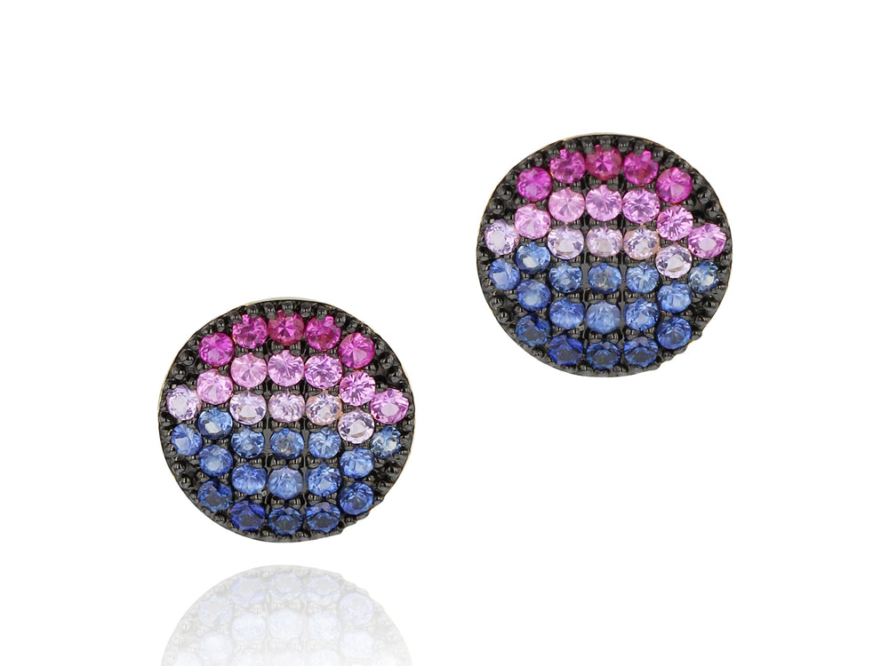 Load image into Gallery viewer, Dusk Mini Infinity Stud Earrings