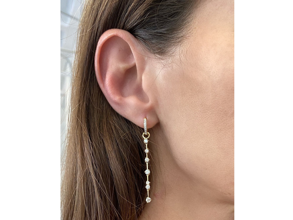 Enchanted Long Huggie Drop Earrings