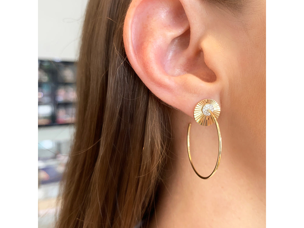 Mini Aura Hoop Earrings