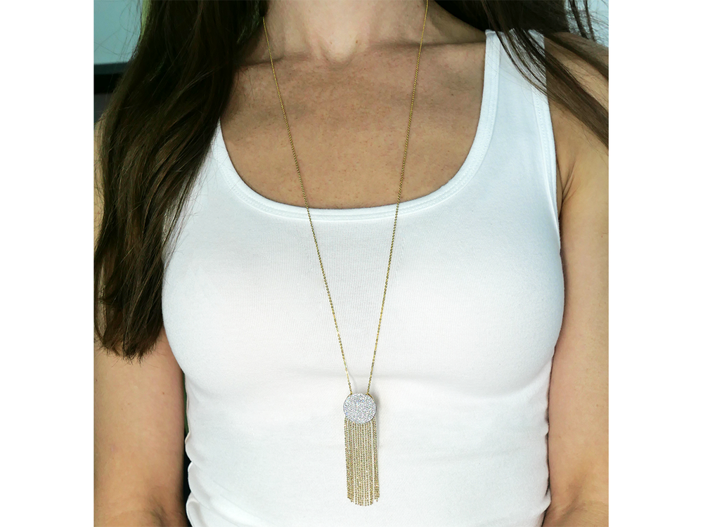 Load image into Gallery viewer, Infinity Tassel Necklace