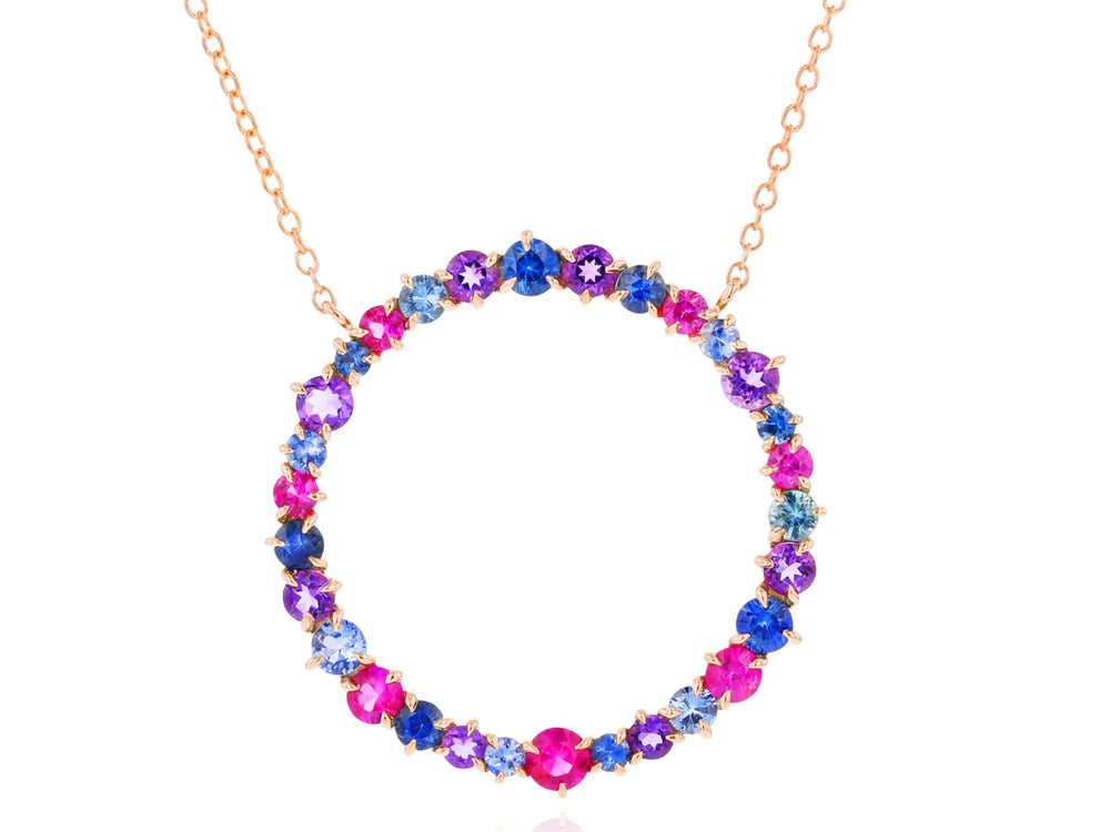 Load image into Gallery viewer, Dusk Enchanted Large Loop Necklace