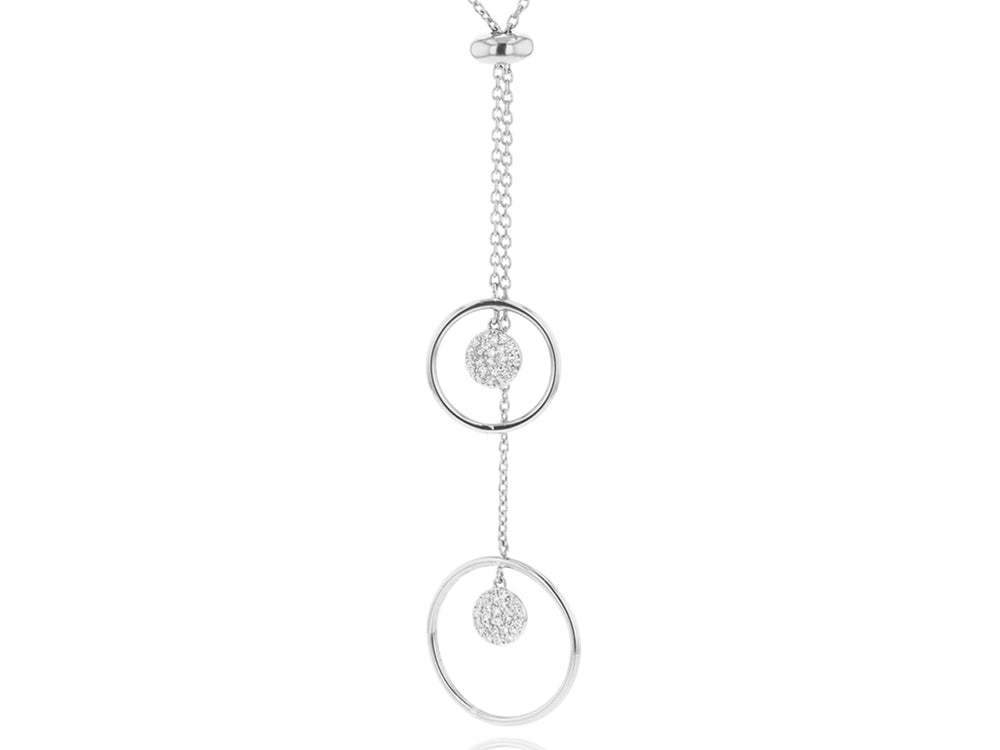 Load image into Gallery viewer, Double Loop Slider Necklace