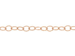 Rose Gold Oval Link Logo Tag Chain
