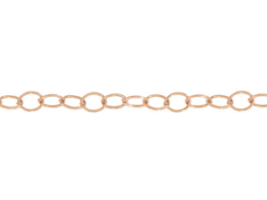 Load image into Gallery viewer, Rose Gold Oval Link Logo Tag Chain