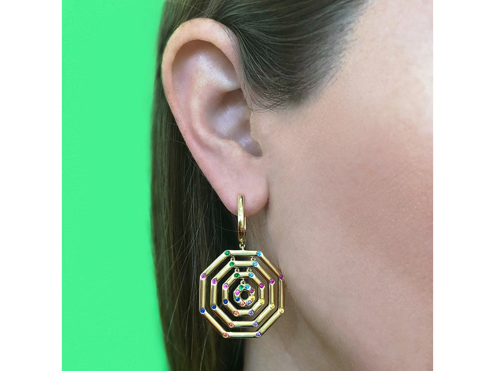 Rainbow Corner Hero Layer Earrings