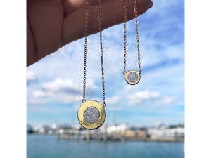 Micro Infinity Plate Necklace