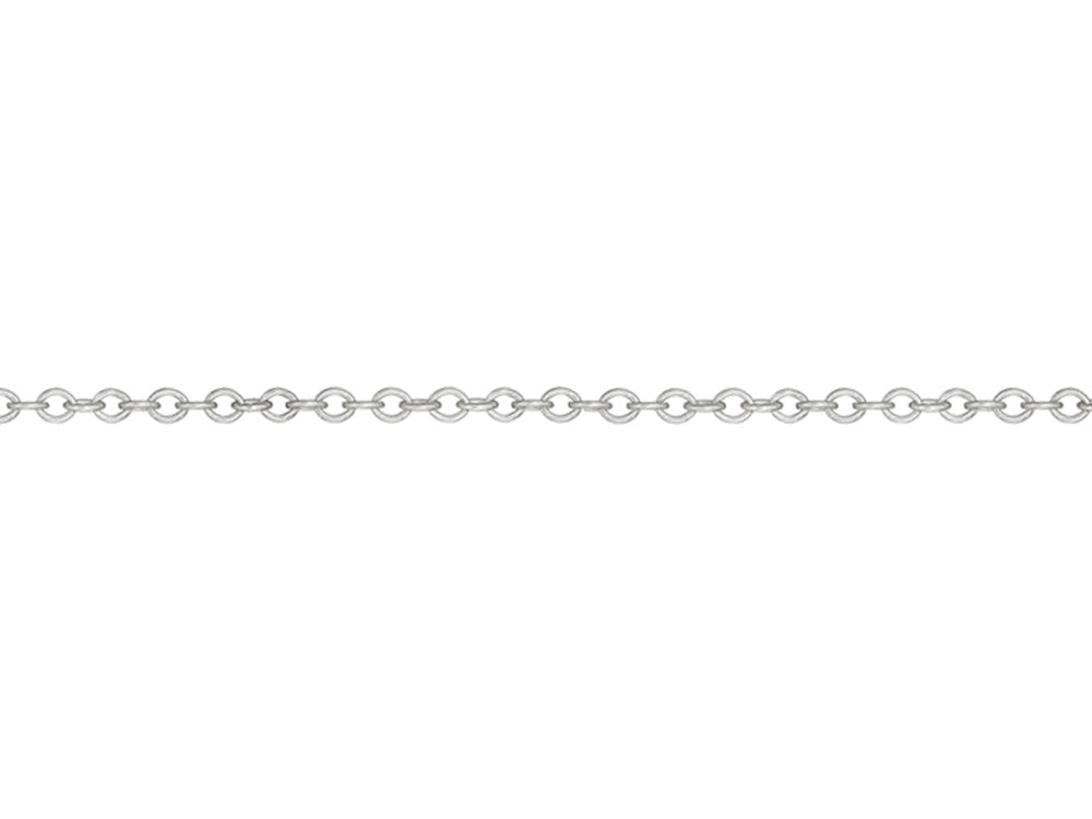 White Gold Rollo Chain