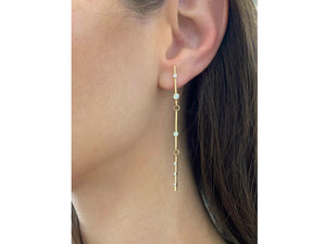 Load image into Gallery viewer, Enchanted Triple Bar Drop Earrings