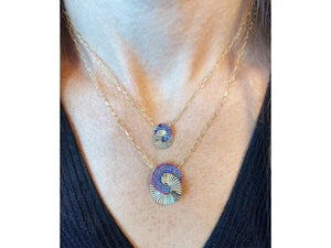 Load image into Gallery viewer, Dusk Mini Interlocking Aura Necklace