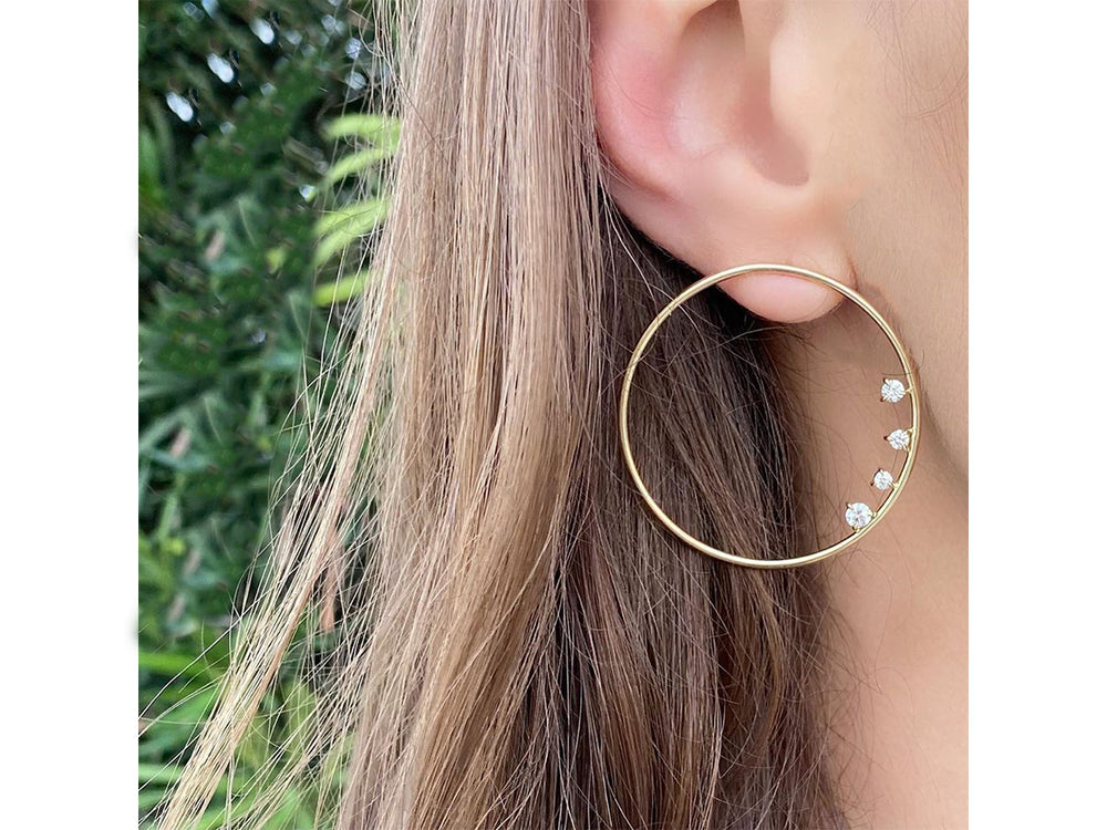 Enchanted Large Loop Earrings