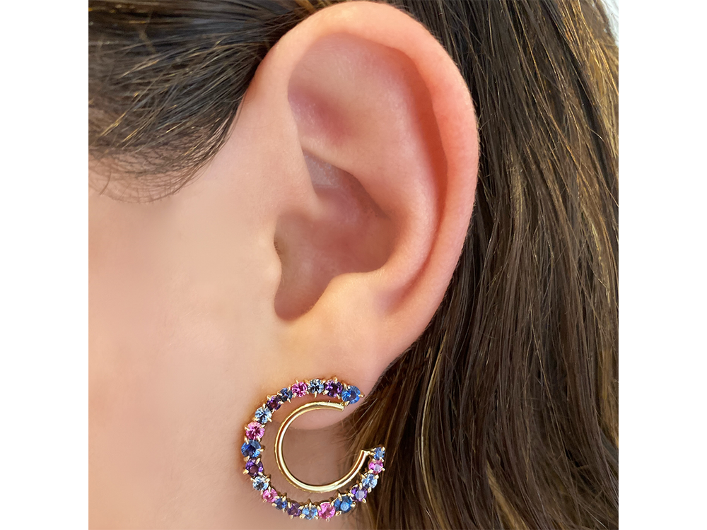 Dusk Enchanted Fan Earrings