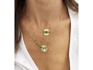 Load image into Gallery viewer, Tsavorite Aura Necklace
