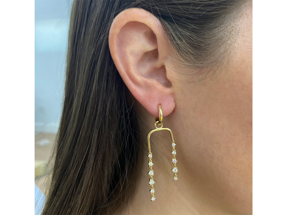Drop Huggie Earrings