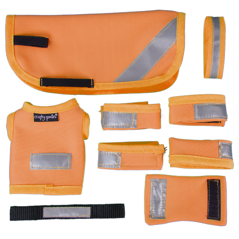 Crafty Pony Hi Viz Reflektionsset Orange
