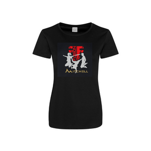 Ladies New Fusion Fighters/ Mitchell - Black Performance Shirt