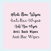 "Load image into Gallery viewer, Single Label: ""Anti-Bac Wipes"""