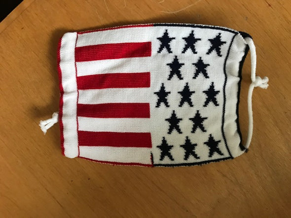 The InBetween LA (t.i.b.) American Flag  - Reversible Knit Face Mask - 3 Pack