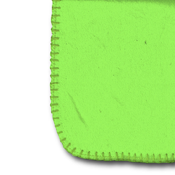 Mary Blair's Juice Girl Lime Green Sherpa-Lined Throw