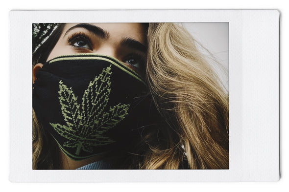 The InBetween LA (t.i.b.) 420  - Reversible Knit Face Mask Blk/Olive - 3 Pack