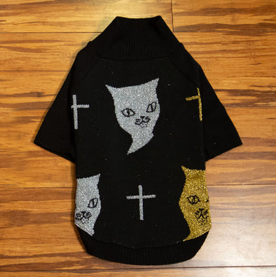 W.A.M.B.'s Sparkle Dog Sweater - Kitty Cat