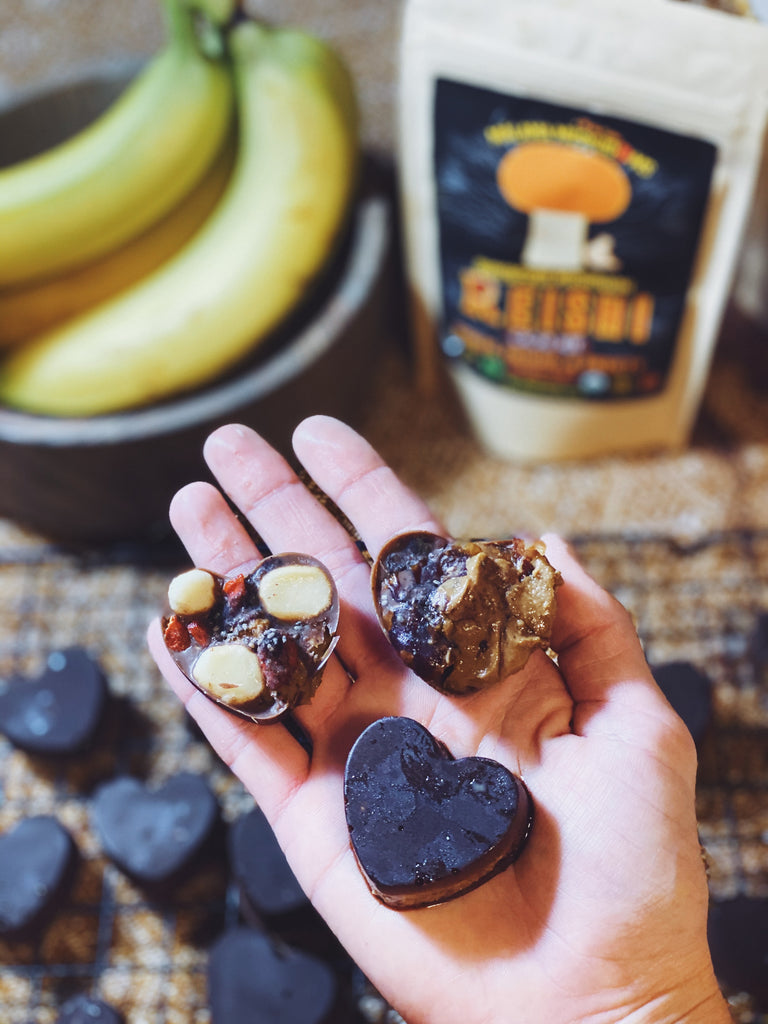 Mushroom Chocolate Nut-Butter Cups (Vegan GF)