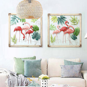 Iron Flamingo Wall Hanging