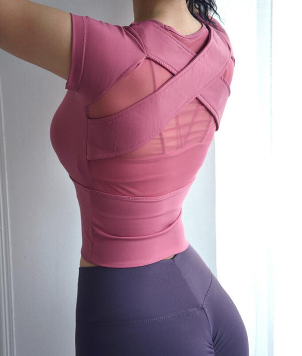 Cropped Workout Top For Women