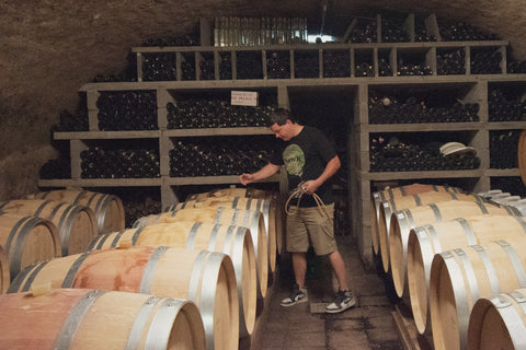 Domaine Mme Aly Duhr et Fils Ben in the cellar