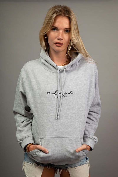 Heather Grey Embroidered Hoodie H#001