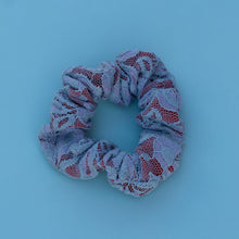 Load image into Gallery viewer, Gray Lace Scrunchie
