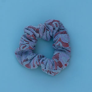 Gray Lace Scrunchie