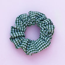Load image into Gallery viewer, Green Gingham Scrunchie