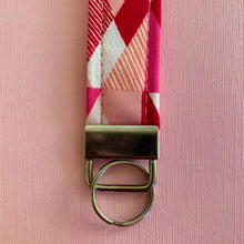 Load image into Gallery viewer, Pink Geometric Key Fob